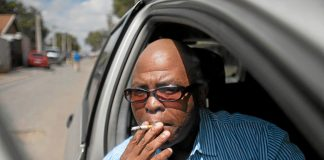 Ash crunch: Radio presenter Muntu Mbanjwa has been smoking for nearly 30 years. So far he cannot kick the habit