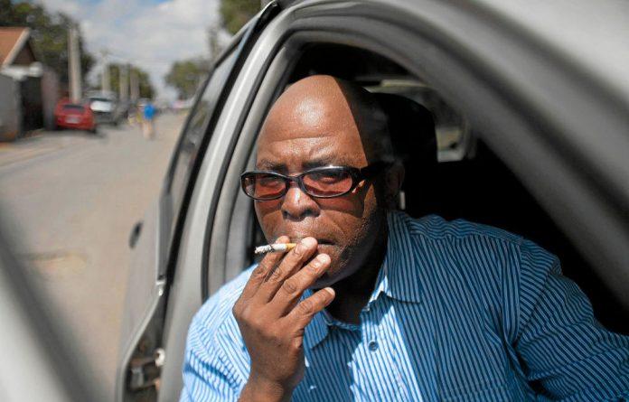 Ash crunch: Radio presenter Muntu Mbanjwa has been smoking for nearly 30 years. So far he cannot kick the habit