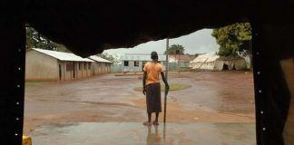 A former child soldier at the rehabilitation centre in Gulu