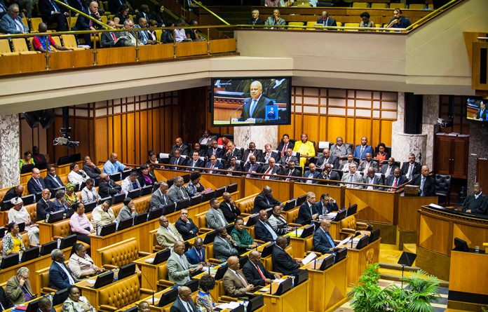 Finance Minister Pravin Gordhan delivers his 2016 budget speech.