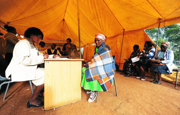 An Eastern Cape patient collects ARVs. Advocacy organisations say many clinics have run out of drugs.