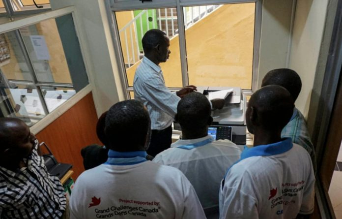 Healing business: Mental health patients help out in the photocopy and printing shop in Machakos
