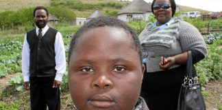 Apple of their eye: Sihle and his parents Jam-Jam Batiya and Beauty Mbalela.