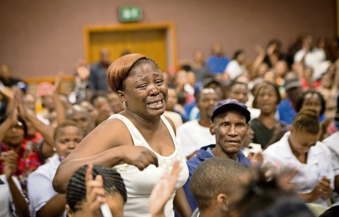 Tipping point: A frustrated Mmanopi Molapo confronts the MEC about not being able to get her medication.