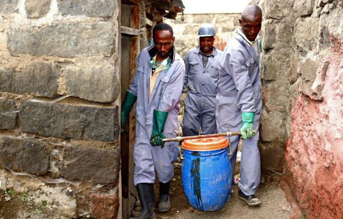 A local youth group has been trained on how to safely remove the human waste that will become biofuel for cooking and heating.