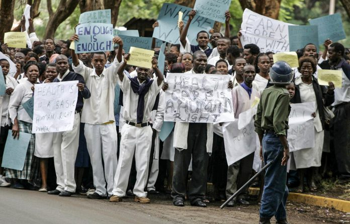 Zimbabwean doctors went on strike in February for more money and more posts. In 2008
