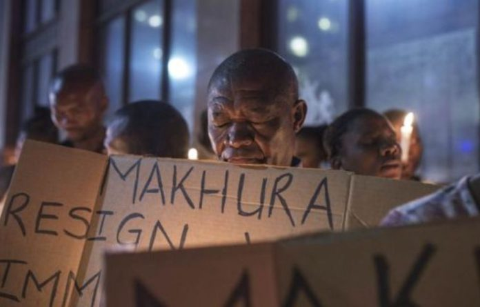 Families hold a vigil for Life Esidimeni patients. They may have warmed to Gauteng Premier David Makhura during the arbitration and meetings ahead of the proceedings