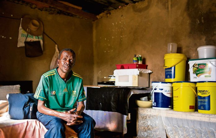 Disabled: Bongani Ngcobo has multidrug-resistant tuberculosis but has been refused a government grant
