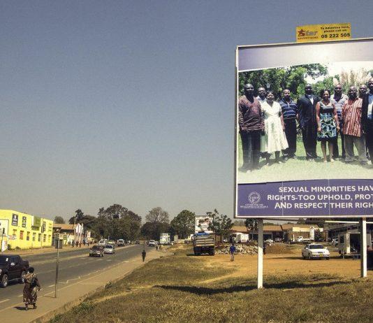 Loud and clear: A billboard in Lilongwe