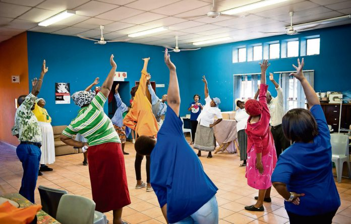 Lifting a load: Aerobics is helping sometimes suspicious elderly people in Diepsloot to deal with mental illness in their families and community.
