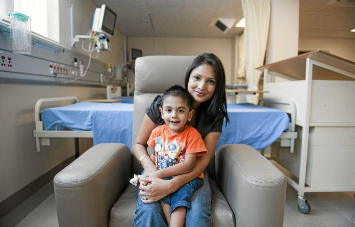 Bouncing back: Rabia Khan and her son