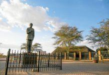 The Madiba statue in Mandela Village