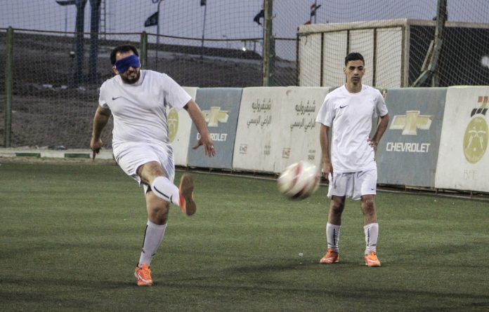 A high proportion of Egypt's population is blind or visually impaired but this does not stop them playing football. The ball rattles as it moves