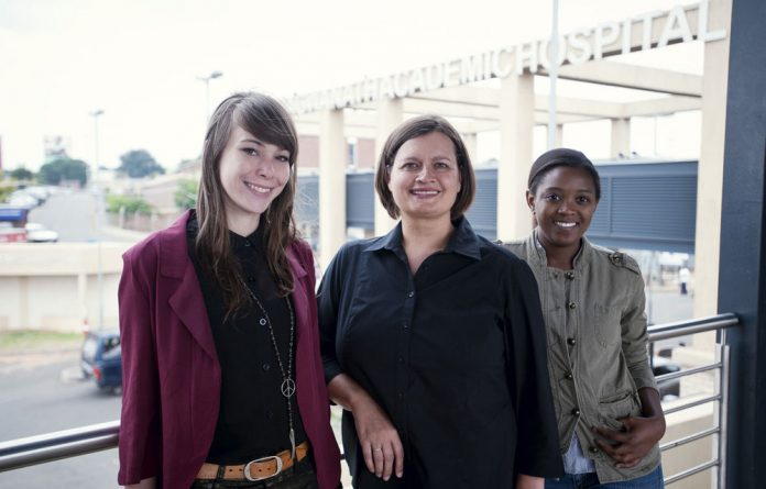 Bhekisisa bagged five awards at the Discovery Health Journalism Awards on Wednesday night. From left: Amy Green, Mia Malan and Ina Skosana