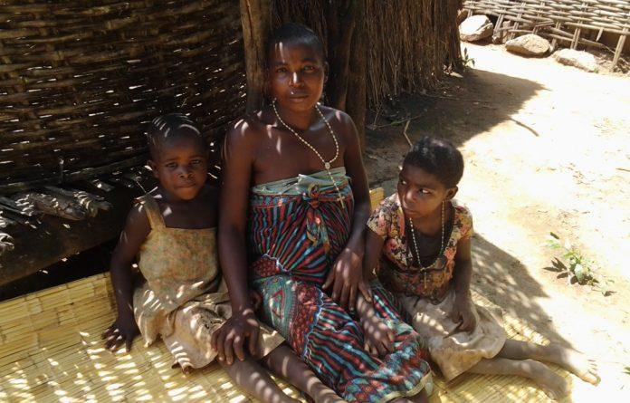 Ellena Baziliyo and her daughters.