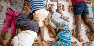At the African Children's Feeding Scheme in Soweto children are guaranteed three meals a day.