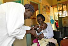 Health worker Jackline Atieno has vaccinated more babies under the age of one year since the Masogo Health Centre started sending SMS reminders to parents and caregivers.