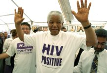 Sending a message: Nelson Mandela with Aids activist Zackie Achmat. Mandela encouraged people to speak about HIV after the death of his son Makgatho from Aids.