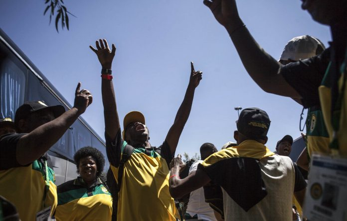 Elated: ANC supporters welcome the news that higher education will be free for some but it may eat into the health budget.