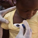 A child at a clinic in Bamako. The country's child mortality rate is among the highest in the world.
