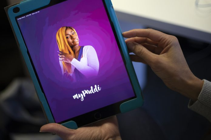 The MyPaddi sexual and reproductive health app homepage