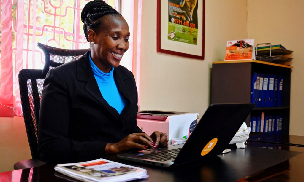 Edith Murogo in her office outside Nairobi.