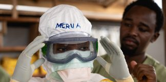Ebola healthcare worker protective gear