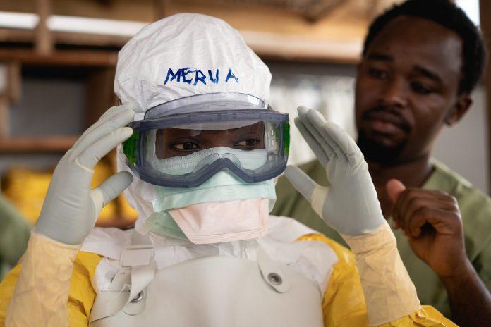 Ebola healthcare worker protective gear