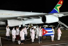 Cuban doctors land