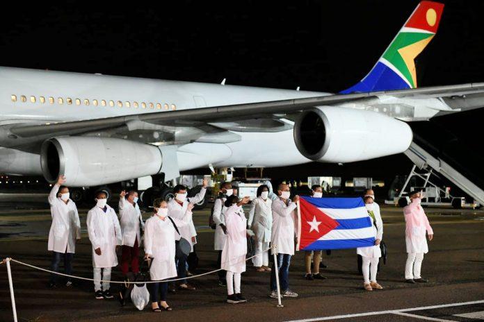 Cuban doctors land